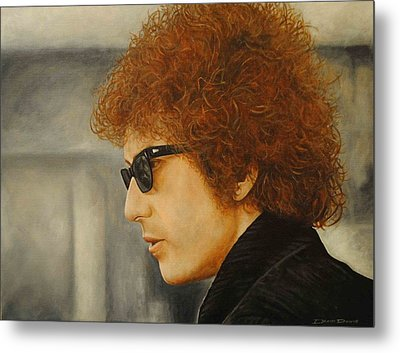 Metal Print featuring the painting Bob Dylan IIi by David Dunne
