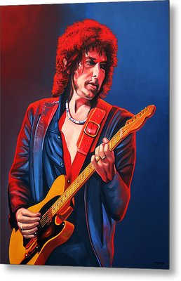 Bob Dylan Painting Metal Print by Paul Meijering