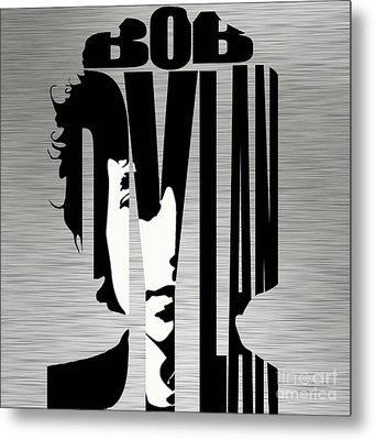 Bob Dylan Silver Metal Print