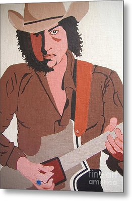 Bob Dylan - Celebrities Metal Print