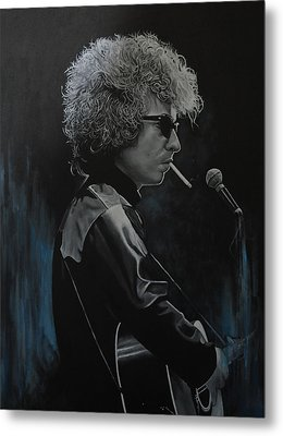 Bob Dylan 'tangled Up In Blue' Metal Print by David Dunne