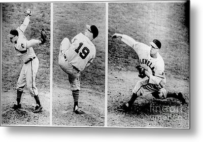 Bob Feller Pitching Metal Print