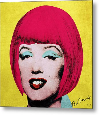 Bob Marilyn  Variant 1 Metal Print by Filippo B