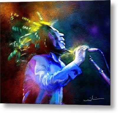 Bob Marley 01 Metal Print by Miki De Goodaboom