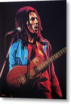 Bob Marley 2 Metal Print by Paul Meijering