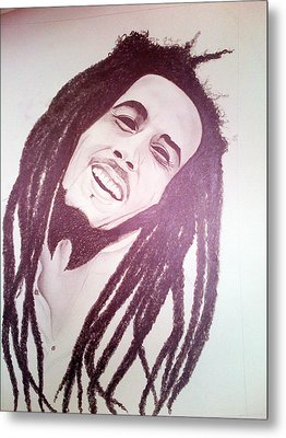 Bob Marley Metal Print by Aileen Carruthers