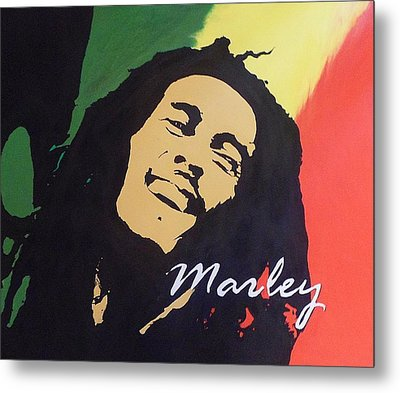 Bob Marley Metal Print by Cherise Foster
