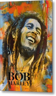 Bob Marley Metal Print by Corporate Art Task Force