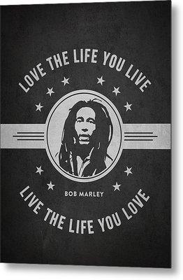 Bob Marley - Dark Metal Print