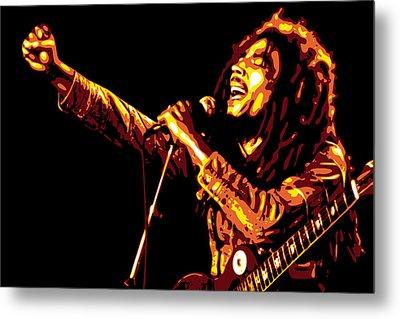 Bob Marley Metal Print by DB Artist