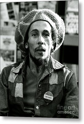 Bob Marley Jah Light Metal Print by Chris Walter