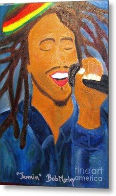 Bob Marley Jammin Metal Print