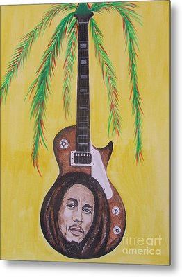 Metal Print featuring the painting Bob Marley by Jeepee Aero