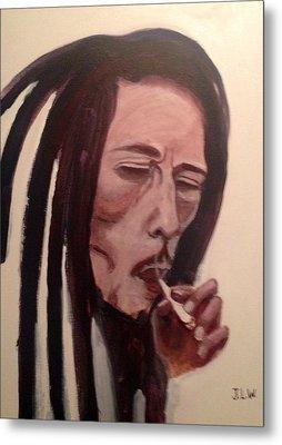 Bob Marley Metal Print by Justin Lee Williams