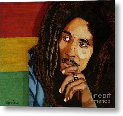 Bob Marley Legend Metal Print