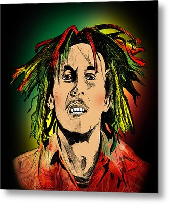 Bob Marley Metal Print by Mark Ashkenazi