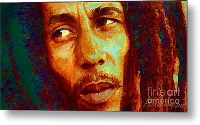 Bob Marley One And Only Metal Print by Alexandra Jordankova