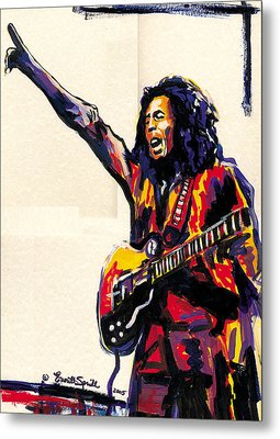 Bob Marley - One Love Metal Print by Everett Spruill