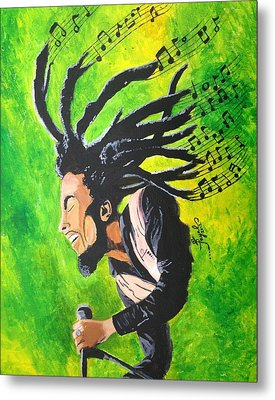 Bob Marley - One With The Music Metal Print