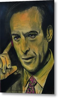Metal Print featuring the drawing Bob Odenkirk - Better Call Saul by Eric Dee