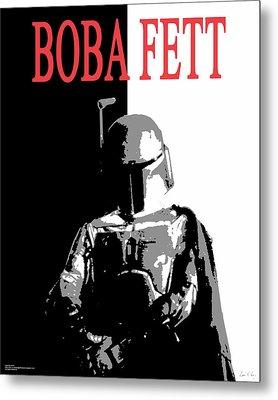 Boba Fett- Gangster Metal Print by Dale Loos Jr