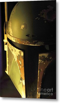 Boba Fett Helmet 124 Metal Print