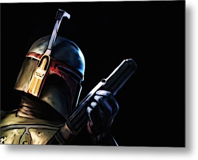 Metal Print featuring the painting Boba Fett by Jeff DOttavio