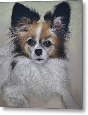 Metal Print featuring the pastel Bobbie - Pastel by Ben Kotyuk