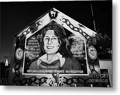 Bobby Sands Mural Belfast Metal Print by Joe Fox