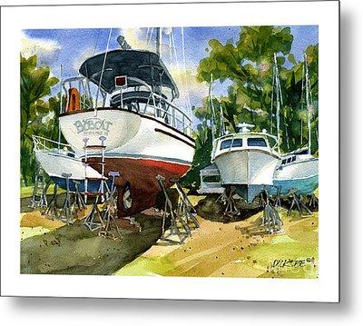 Bobcat Sail Metal Print
