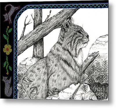 Bobcats Lost Tail Metal Print by Christine Matha