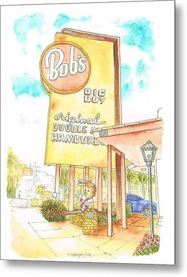 Bob's Big Boy In Burbank, California Metal Print by Carlos G Groppa