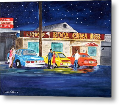 Boca Chica Bar Metal Print by Linda Cabrera