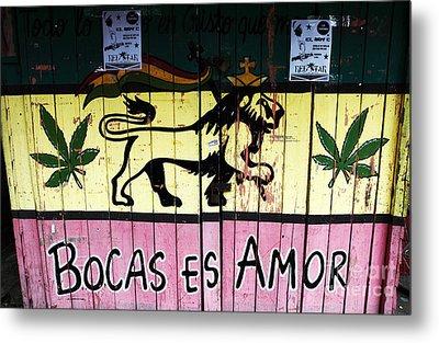 Bocas Es Amor Metal Print by John Rizzuto