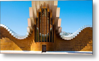 Bodegas Ysios Winery Building, La Metal Print by Panoramic Images