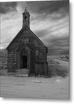 Metal Print featuring the photograph Bodie Church by Jim Snyder