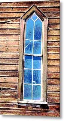 Metal Print featuring the photograph Bodie Church Window by Mary Bedy