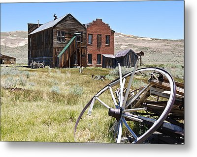 Metal Print featuring the photograph Bodie Ghost Town 3 - Old West by Shane Kelly