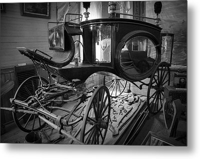 Metal Print featuring the photograph Bodie Hearse by Jim Snyder