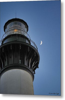 Bodie Island Lighthouse And Luna Metal Print by Matt Taylor