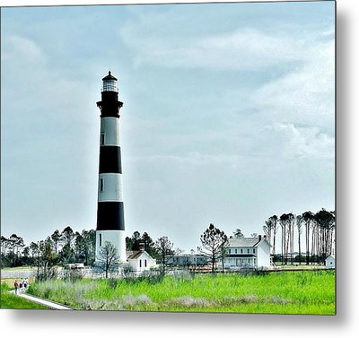 Bodie Island Lighthouse - Outer Banks North Carolina Metal Print by Kim Bemis