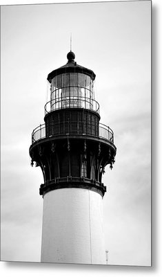 Metal Print featuring the photograph Bodie Lighthouse Lens In Black And White by Bob Sample