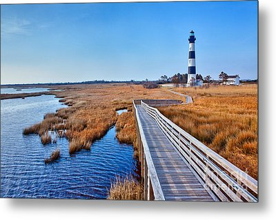 Bodie Lighthouse Outer Banks North Carolina I Metal Print by Dan Carmichael
