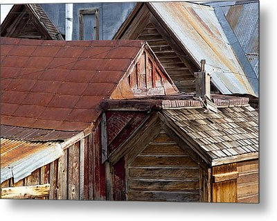 Metal Print featuring the photograph Bodie Rooflines by Jim Snyder