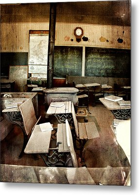 Metal Print featuring the photograph Bodie School Room by Lana Trussell
