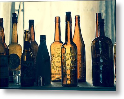 Metal Print featuring the photograph Bodies Bottles by Jim Snyder