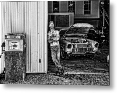 Body Shop Metal Print by Dan Quam
