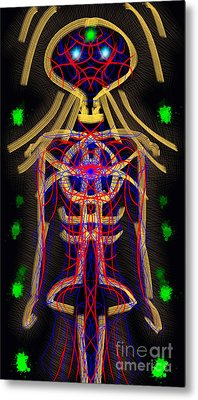 Bodywire Metal Print by Devin  Cogger