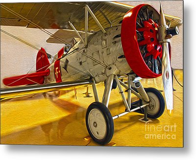 Boeing Fighter 4b-1 - Front Metal Print by Gregory Dyer