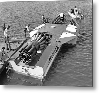 Boeing Jet Powered Speed Boat Metal Print by Underwood Archives